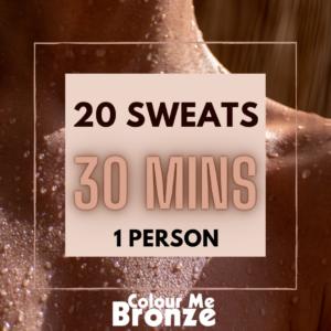 Colour Me Bronze - Infrared Sauna Pack - 20 sweats/1 person/30 mins