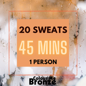 Colour Me Bronze - Infrared Sauna Pack - 20 sweats/1 person/45 mins