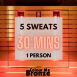 Colour Me Bronze – Infrared Sauna Pack – 5 sweats/1 person