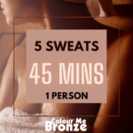 Colour Me Bronze - Infrared Sauna Pack - 10 sweats/1 person/45 mins