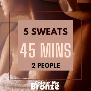 Colour Me Bronze - Infrared Sauna Pack - 10 sweats/2 people/45 mins
